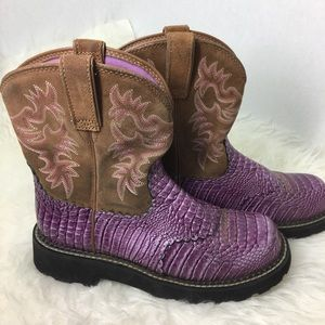 Ariat Shoes - Ariat Purple Baby Fats Cowgirl Women's Sz 8.5